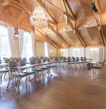 Meyersalen er et av konferanselokalene du kan velge mellom ved kurs og konferanse på Losby Gods