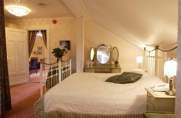 Soverom på Haakon Suiten i Gamlegodset