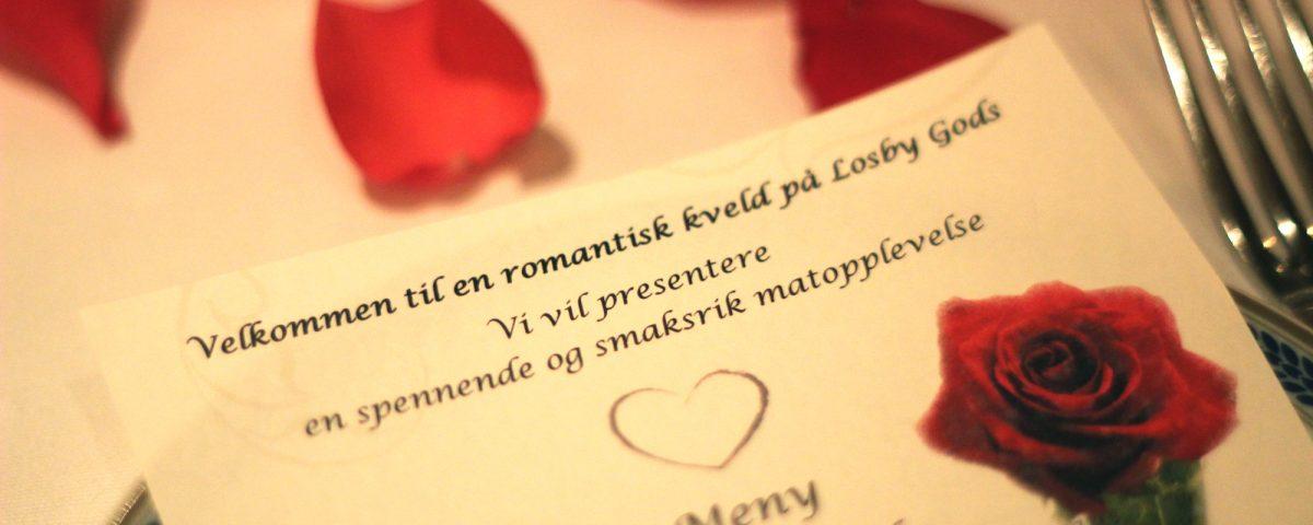 Meny i restauranten - Romantikk på godset
