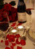 Bord dekket til Romantikk på Godset