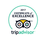 Tripadvisor - Certificate of excellence