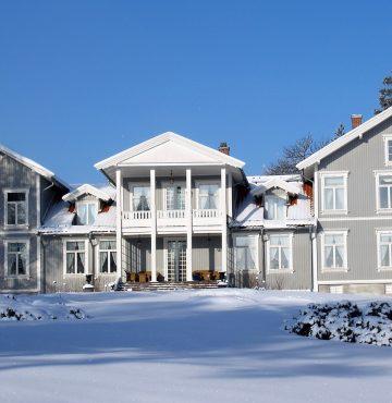 Vinter på Losby Gods