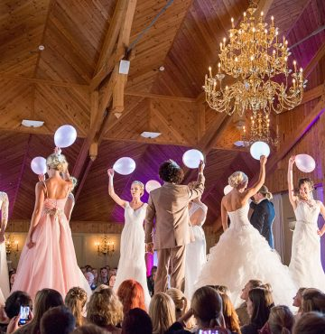 Bryllupsshow på bryllupsmessen Deres Dag på Losby Gods