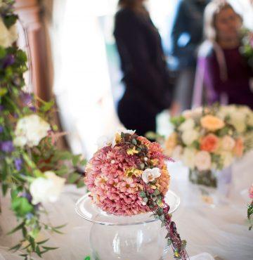 Blomster på bryllupsmessen Deres Dag på Losby Gods